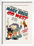 Go West, Groucho Marx, Harpo Marx, Chico Marx, Diana Lewis, 1940 Prints