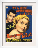 Honeymoon in Bali, Fred Macmurray, Madeleine Carroll on Midget Window Card, 1939 Posters