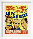 Love and Hisses, Simone Simon, Walter Winchell, Ben Bernie, 1937 Art
