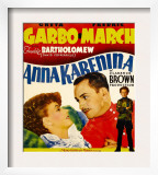 Anna Karenina, Greta Garbo, Fredric March, Freddie Bartholomew on Window Card, 1935 Posters