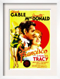 San Francisco, Jeanette Macdonald, Clark Gable, Jeanette Macdonald on Midget Window Card, 1936 Prints