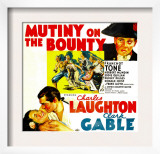 Mutiny on the Bounty, Charles Laughton, Movita, Clark Gable, 1935 Prints