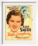 Hello, Everybody!, Kate Smith on Midget Window Card, 1933 Prints