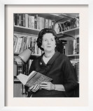 Rachel Carson, Biologist and Writer, Holding Her Ground Breaking Book, the Silent Spring, 1963 Prints