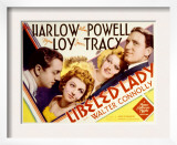 Libeled Lady, William Powell, Myrna Loy, Jean Harlow, Spencer Tracy, 1936 Print