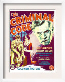 The Criminal Code, Phillips Holmes, Constance Cummings, Walter Huston on Window Card, 1931 Art