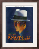 Knapp-Felt, Magazine Advertisement, USA, 1920 Poster