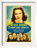 Three Smart Girls Grow Up, Deanna Durbin, Helen Parrish, William Lundigan, 1939 Prints