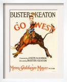 Go West! (Aka Go West), Buster Keaton, 1925 Print