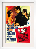 In Name Only, Kay Francis, Cary Grant, Carole Lombard on Window Card, 1939 Posters