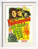 Kidnapped, Warner Baxter, Arleen Whelan, Freddie Bartholomew on Midget Window Card, 1938 Posters