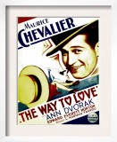 Way to Love, Maurice Chevalier on Midget Window Card, 1933 Poster