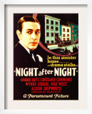 Night after Night, George Raft on Midget Window Card, 1932 Poster