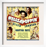 Hellzapoppin', Ole Olsen, Chic Johnson, Martha Raye, Hugh Herbert, Mischa Auer on Window Card, 1941 Art