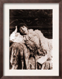 Sarah Bernhardt, French Actress, Reclining on a Divan in an 1880's Portrait Print