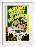 Tarzan's Secret Treasure, Johnny Weissmuller, Johnny Sheffield, Maureen O'sullivan, 1941 Prints