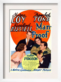 Man-Proof, Myrna Loy, Franchot Tone, Rosalind Russell, Walter Pidgeon on Midget Window Card, 1938 Posters