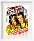 You and Me, Sylvia Sidney, George Raft on Window Card, 1938 Posters