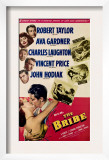 The Bribe, from Top, Robert Taylor, Ava Gardner, Charles Laughton, Vincent Price, John Hodiak, 1949 Poster