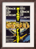 Night Flight, John Barrymore, Helen Hayes, Clark Gable, 1933 Poster