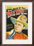 Hittin' the Trail, Tex Ritter, 1937 Prints