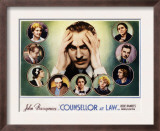 Counsellor at Law, John Barrymore, Malka Kornstein, Onslow Stevens, and Doris Kenyon, 1933 Posters