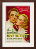 Brief Moment, Gene Raymond, Carole Lombard, 1933 Poster