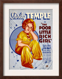 Poor Little Rich Girl, Shirley Temple, 1936 Poster