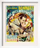What Price Hollywood, Neil Hamilton, Constance Bennett on Window Card, 1932 Prints