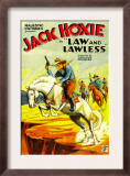 Law and Lawless, Jack Hoxie, 1932 Print