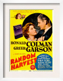 Random Harvest, Greer Garson, Ronald Colman on Midget Window Card, 1942 Prints