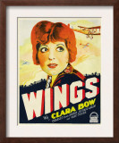 Wings, Clara Bow, 1927 Poster