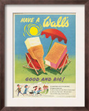 Wall's, Ice-Cream, UK, 1950 Art