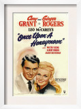 Once Upon a Honeymoon, Cary Grant, Ginger Rogers, 1942 Art