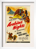 Arabian Nights, 1942, Poster Art Posters