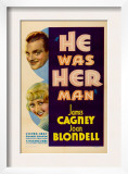 He Was Her Man, Top to Bottom: James Cagney, Joan Blondell, 1934 Prints