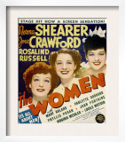The Women, Joan Crawford, Norma Shearer, Rosalind Russell on Window Card, 1939 Prints