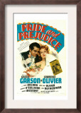 Pride and Prejudice, Laurence Olivier, Greer Garson, 1940 Poster