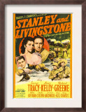 Stanley and Livingstone, Richard Greene, Nancy Kelly, Spencer Tracy on Midget Window Card, 1939 Posters