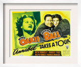 Annabel Takes a Tour, Lucille Ball, Jack Oakie, Lucille Ball (Far Right), 1938 Print