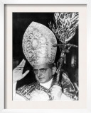 Pope Paul Vi, Blessing Crowd in St. Peter's Basilica on Palm Sunday, Vatican City, April 3rd, 1966 Prints