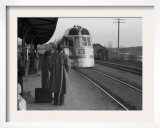 The Burlington Zephyr, East Dubuque, Illinois, c.1940 Prints by John Vachon