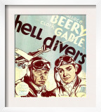 Hell Divers, Wallace Beery, Clark Gable on Window Card, 1932 Prints