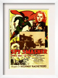 Spy Smasher, Kane Richmond, Marguerite Chapman in &#39;Chapter 9: Highway Racketeers&#39;, 1942 Art