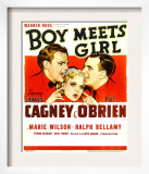 Boy Meets Girl, James Cagney, Marie Wilson, Pat O'Brien, 1938 Print