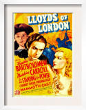 Lloyds of London, Freddie Bartholomew, Tyrone Power, Madeleine Carroll on Midget Window Card, 1936 Posters