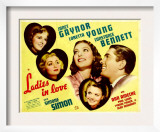 Ladies in Love, Janet Gaynor, Constance Bennett, Loretta Young, Don Ameche, Simone Simon, 1936 Print