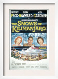 The Snows of Kilimanjaro, Susan Hayward, Gregory Peck, Ava Gardner, 1952 Print