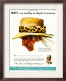 Hats, Magazine Advertisement, USA, 1952 Print