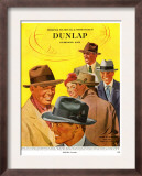 Dunlap, Magazine Advertisement, USA, 1950 Prints